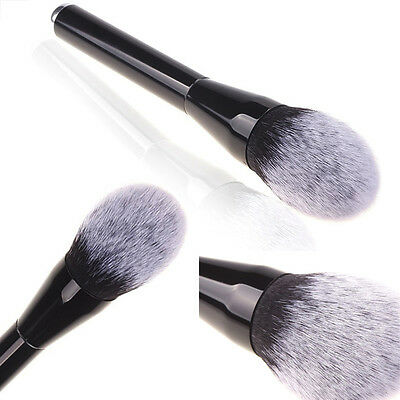 White-Tipped Head Makeup Cosmetic Brushes Kabuki Contour Face Blush Powder Brush