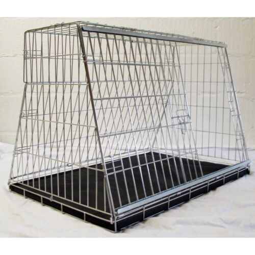 PET WORLD FIAT PANDA SLOPING CAR DOG CAGE BOOT TRAVEL CRATE PUPPY GUARD