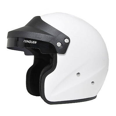 Snell SA2015 Approved Open Face Racing Helmet