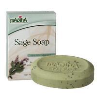 Sage Herbal Soap Bar Pure Sage Oil Cocoa Butter Deodorant Antibacterial Madina