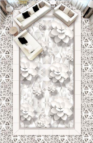 3D Motifs 53 Fond d'écran étage Peint en Autocollant Murale Plafond Chambre Art