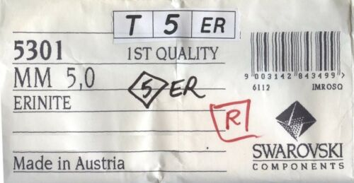 T5 5301 ER *** 20 toupies cristal Swarovski 5mm ERINITE
