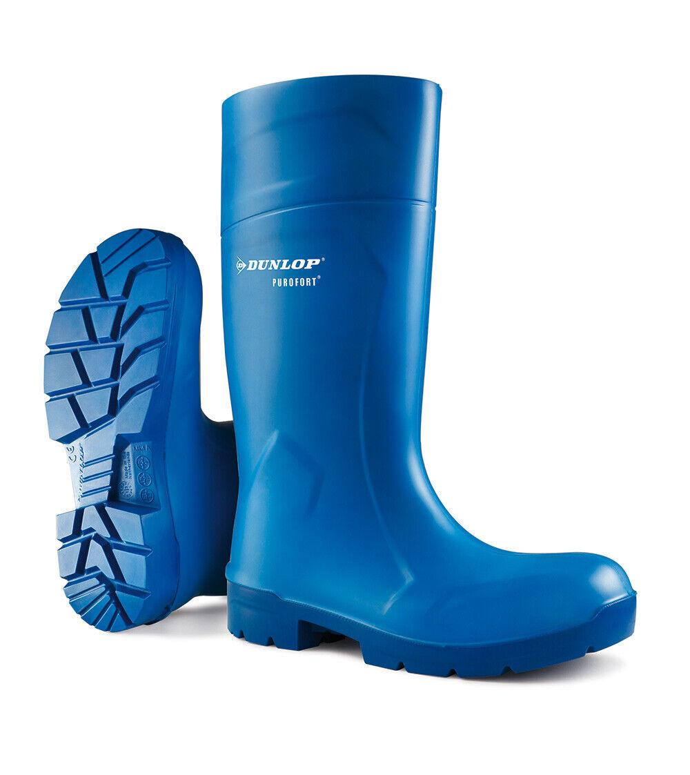 Dunlop Purofort botas Food Pro Multi Grip Seguridad Wellington Wellies Azul