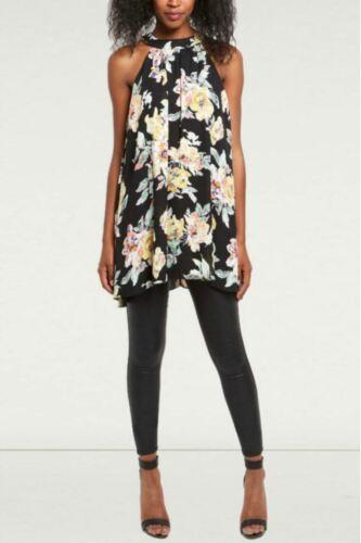 NEW LOOK Black Floral Sleeveless Swing Top