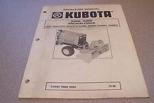Kubota Owners Manual G2500, G2505 Snowblower