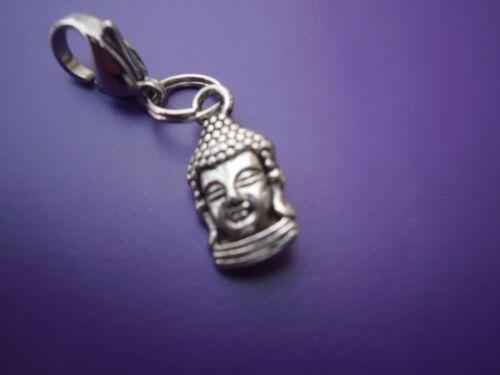 1 Tibetan Buddha Clip on or European dangle charm for charm bracelets