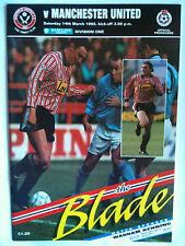 MINT 1991/92 Sheffield United v Manchester United 1st Division