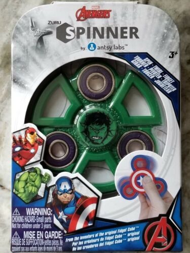 Zuru Avengers The Hulk Fidget Spinner Brand New In Box