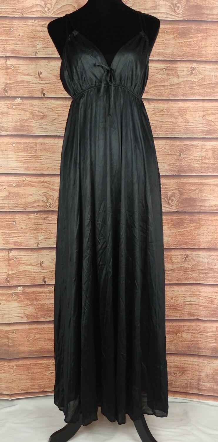 VTG Womens Sz Med Lingerie Nightgown Nightdress Sleepwear Keyhole Sexy Hot