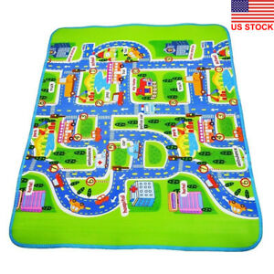 Dv Giant Kids City Playmat Fun Town Cars Play Road Carpet Rug Pe