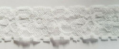 "White Lace Trim Trimming Edging 30mm 3cm 1.2/"" Width Please Choose Length"