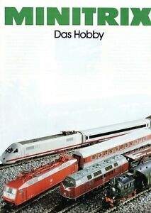 Minitrix-Das-Hobby-1990-Prospekt-Modelleisenbahn-brochure-model-railway-catalog