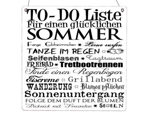 XL Shabby Vintage Holzschild TO DO LISTE  SOMMER Geschenk Dekoschild