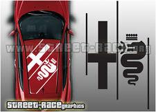 ALFA ROMEO OTT 007 TETTO grafica logo adesivi decalcomanie Giuletta 147 SPARK MITO