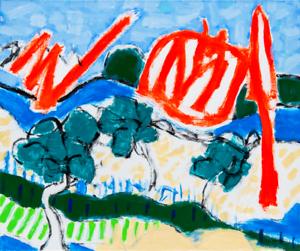 Large-French-Landscape-Original-Oil-Painting-on-Canvas-Modern-Art-Neal-Turner-NR