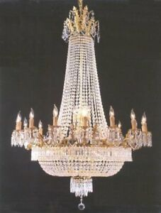 Details About French Empire Crystal Chandelier Lighting Gold H50 X W40