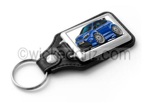 RetroArtz Cartoon Car Ford Focus RS MK2 in Performance Blue Classic Key Ring