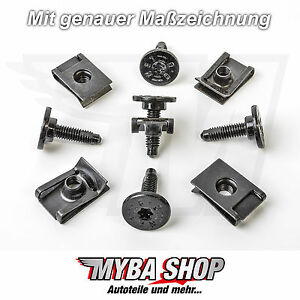10x-SET-METAL-HOLDER-BRACKETS-Torx-Screw-for-Fiat-Lancia-Citroen-Alfa-Romeo