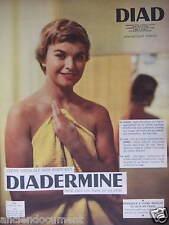 PUBLICITÉ 1955 DIADERMINE CRÈME MÉDICALE NON PARFUMÉE POUR LA PEAU - ADVERTISING