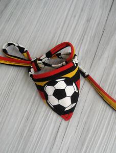 Fussball Halsumfang 12-43 cm Hundetuch Hundehalstuch Halstuch Halsband Tuch Hund