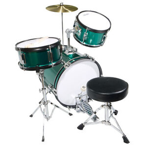 Mendini 16 Junior Kids Child Jr Drum Set Kit Green Ebay