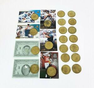 21 x Vintage 90's Pinnacle Mint Collection NFL American Football Player Coin Lot