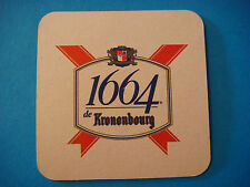 Beer Coaster <> KRONENBOURG Brasserie 1664 ** Additional Coasters Only $0.25 S&H