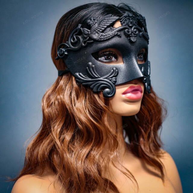Pack 6 Red Glitter Carnival Costume Masquerade Party Favor Mask Dance Mardi Gras