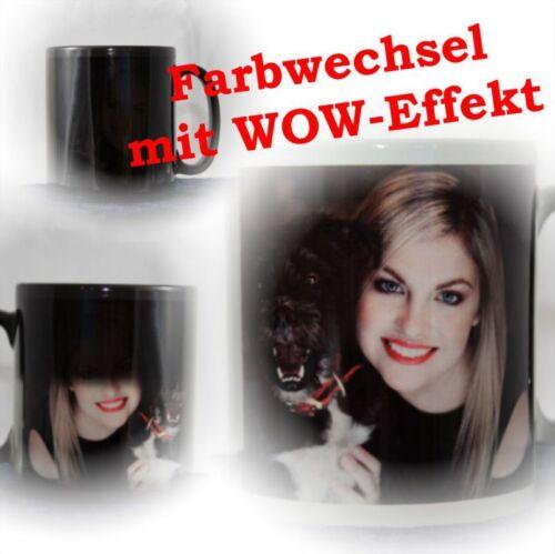 mit WOW-Effekt Foto bedruckt mit Wunsch Foto Bild Zaubertasse Fototasse