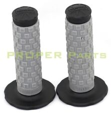 BLACK GRAY Pro Taper Grips Dirt Bike Gel Handle Bar Motorcycle Hand Grips MX KLX