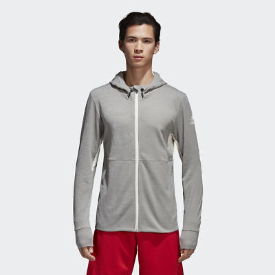 Details about adidas Climacool Textured Hoodie NEW men CD7839 grey