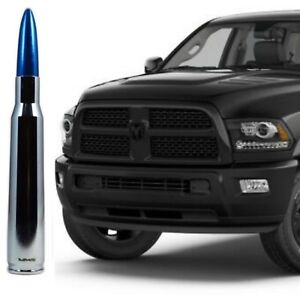 Dodge Ram Trucks >> Details About Chrome With Blue Tip Bullet Antenna For Dodge Ram Trucks All Years All Models