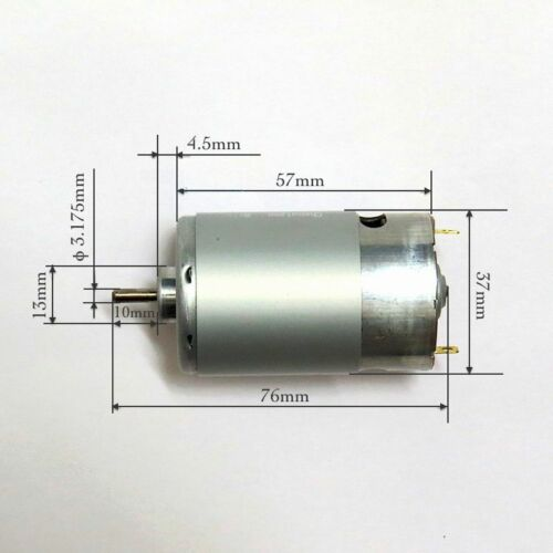DC24V 6850RPM High Speed Large Torque Permanent Magnetic RS-555 Motor With Fan