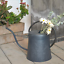thumbnail 10 - HORTICAN Galvanized Watering Can Modern Style Watering Pot with Handle for Outdo