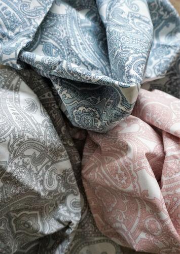 Jättevallmo Stoff Meterware 100 x 140 cm Baumwolle Paisley blau grau rosa neu