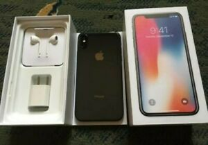 iPhoneX-256-GB-Black-Factory-Unlocked-Complete-original-Accessories-w-box