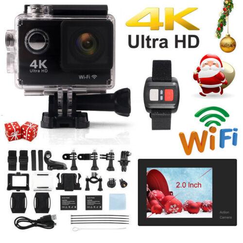 16MP Wifi 4K 2 HD Deporte DV Acción Casco Cámara impermeable con Control Remoto