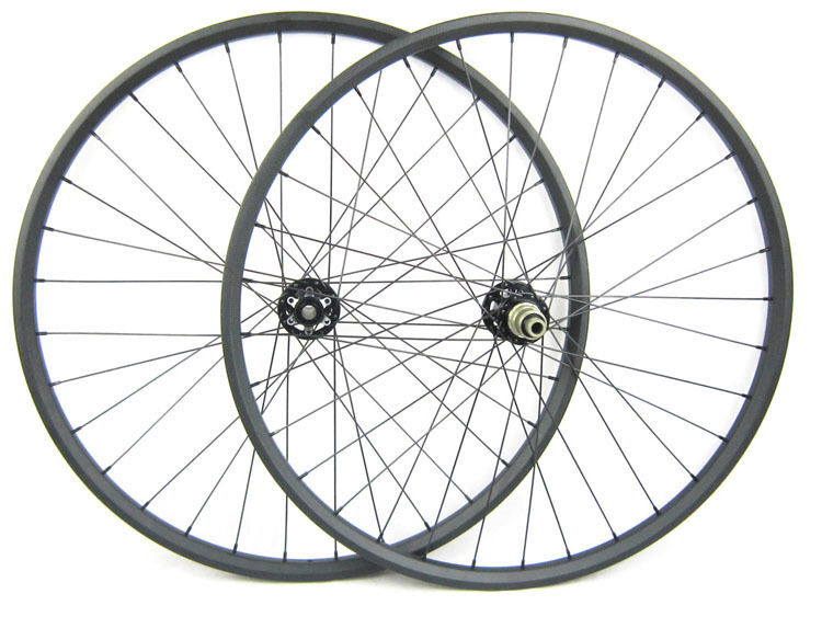 29er MTB XC Mountain Bike Carbon Wheel Set 27mm x 24mm Carbon Rims Clincher