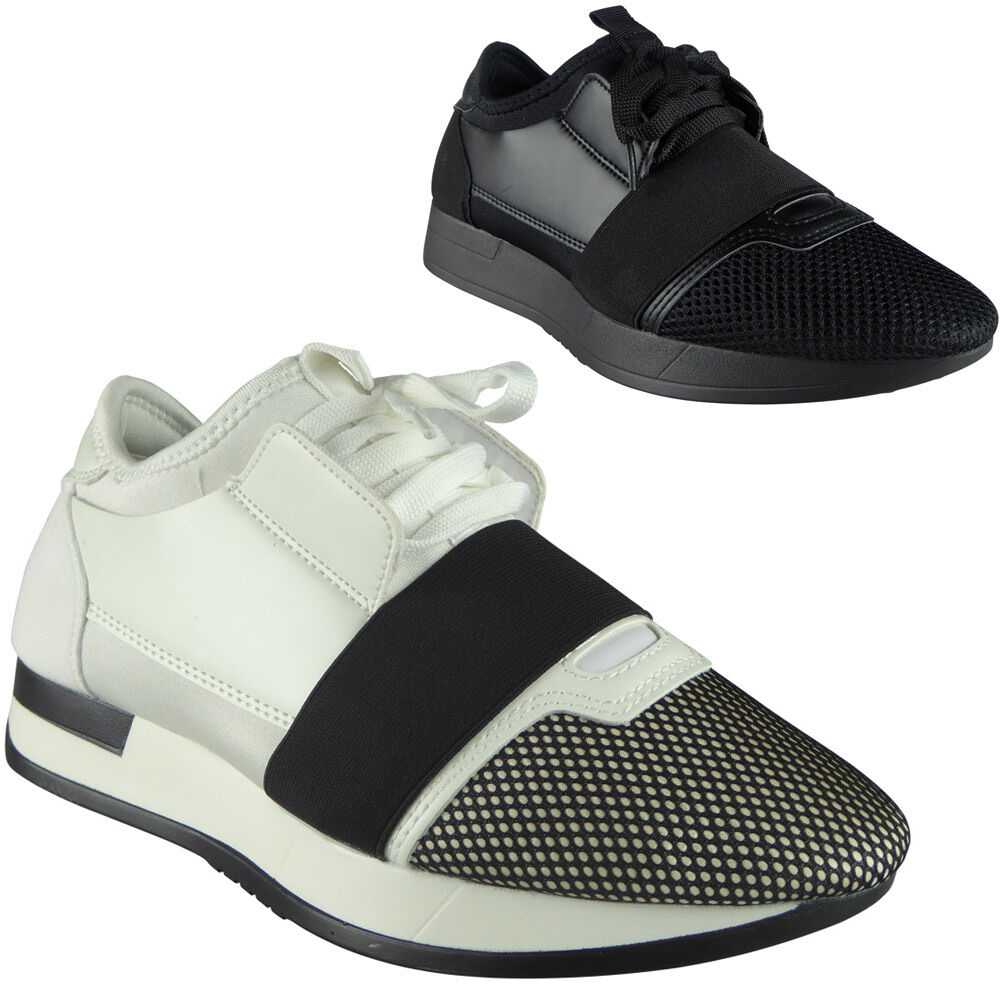Mens Running Trainers Boys Fitness Gym Light Sports Comfy Lace Up Shoes Size