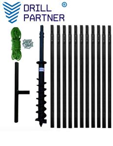 DRILLPARTNER 100-200mm/8-20m  Erdbohrer Brunnenbohrer Plunscher Brunnenbohrgerät
