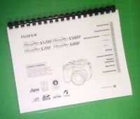 Laser Printed Fujifilm S700 S800 Finepix Camera 180 Page Owners Manual Guide