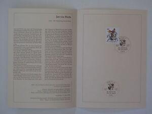(91j12) Bund Journal De Souvenir 1991 De Mi.n ° 1504 Jan De Werth Forme éLéGante