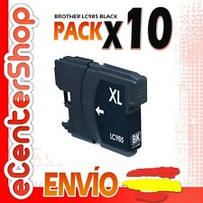 10 Cartuchos de Tinta Negra LC985 NON-OEM Brother DCP-J140W / DCPJ140W