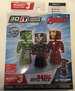 Details about 3d Character Creator Marvel Avengers Basic Refill Pack  Novelty Toy