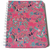 PINK FLOWER DESIGN A5 SPIRAL NOTE PAD NOTEPAD BOOK - 100 LINED WHITE PAGES 80GSM