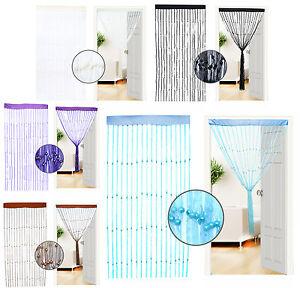 Organza String Curtain Door Hanging Tassel Curtain