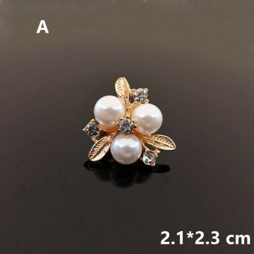 10pc Embellishments Rhinestone Faux Pearls Flowers for Crafts DIY Accessories