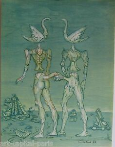 COUTAUD-LUCIEN-LITHOGRAPHIE-1973-SIGNE-CRAYON-NUM-190-HANDSIGNED-NUMB-LITHOGRAPH