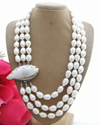 N130627 Amazing! 15MM White Pearl Necklace
