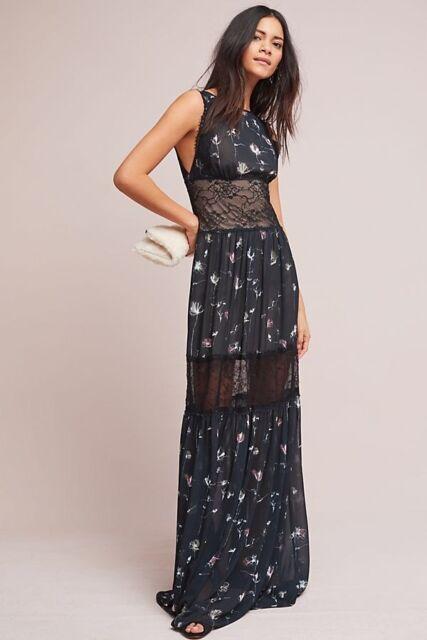 bdb616c2e30 ML Monique Lhuillier Floral Lace Maxi Dress SZ 12 NWT Fabulous Rare Retail   495